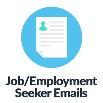 Job Employment Seeker Email Lists