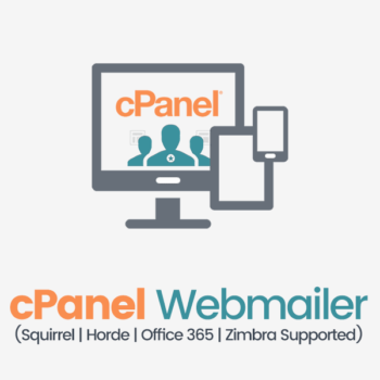 cpanel webmailer squirrel, zimbra, office 365 or horde