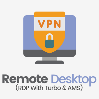 remote desktop rdp with vpn, turbo mailer and ams